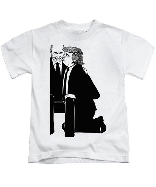 Trump On Knees Kids T-Shirt