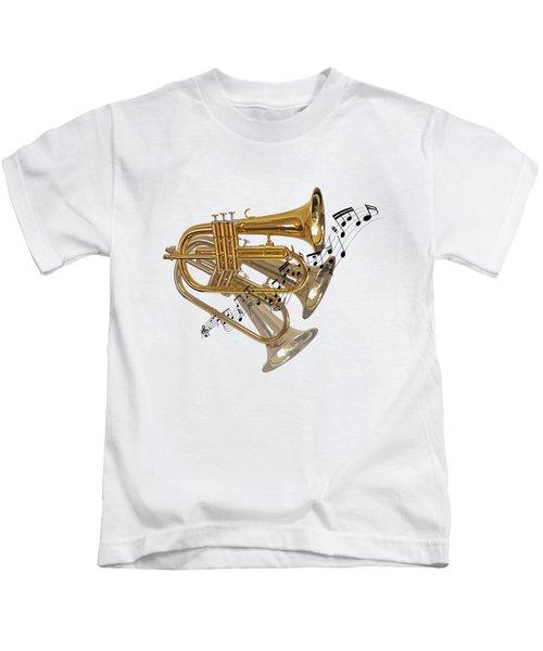 Trumpet Fanfare Kids T-Shirt