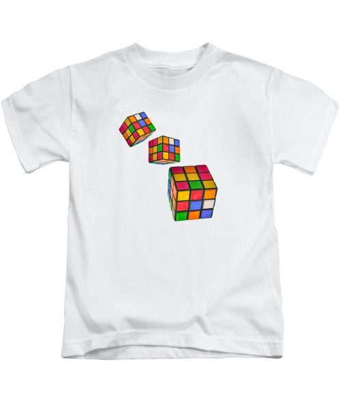 Tumbling Cubes Kids T-Shirt