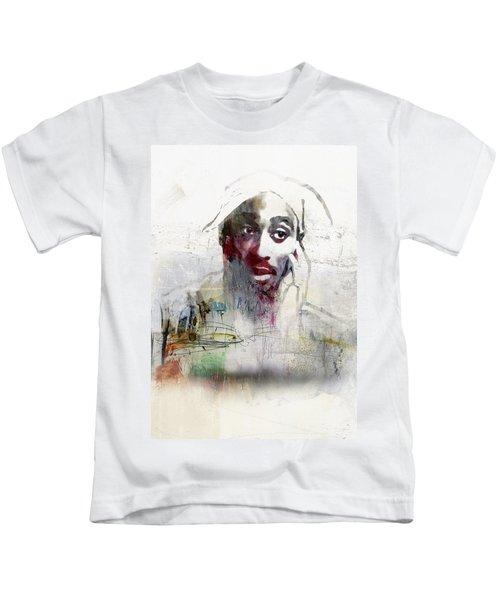 Tupac Graffitti 2656 Kids T-Shirt by Jani Heinonen
