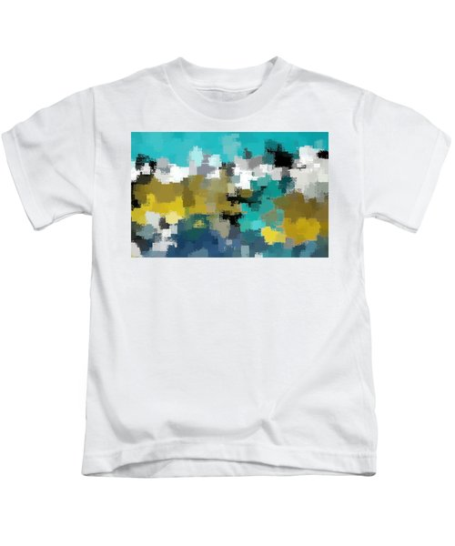 Turquoise And Gold Kids T-Shirt