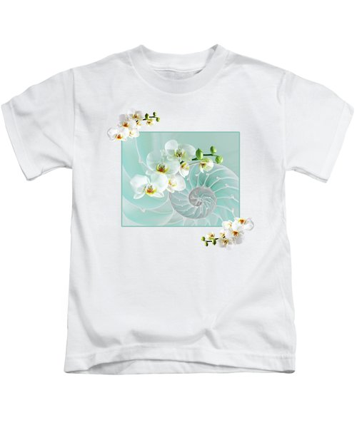 Turquoise Fusion Kids T-Shirt by Gill Billington