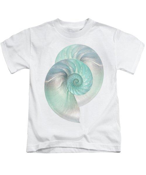 Turquoise Nautilus Pair Kids T-Shirt