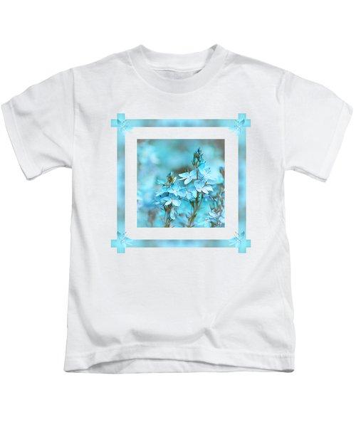 Turquoise Ribbons Kids T-Shirt