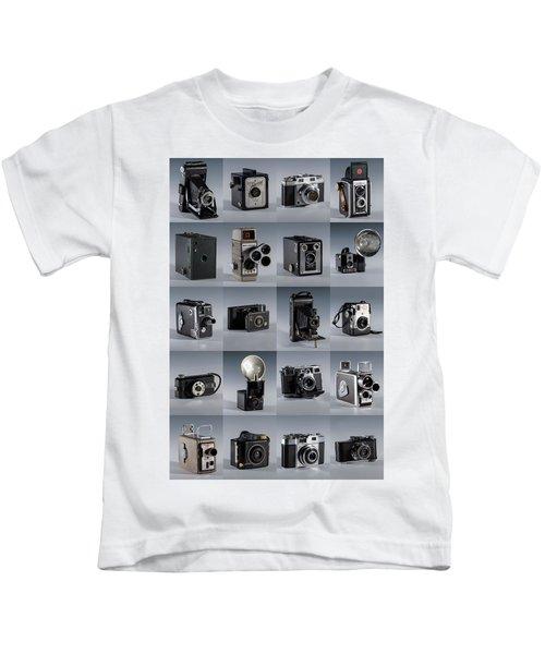 Twenty Old Cameras - Color Kids T-Shirt