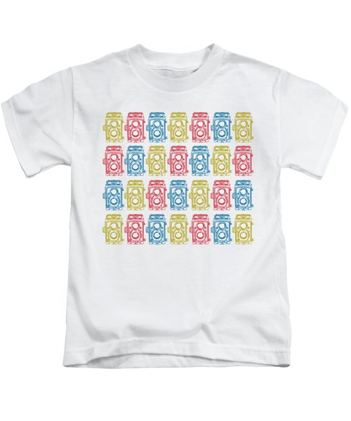 Twin Lens Camera Pattern Kids T-Shirt