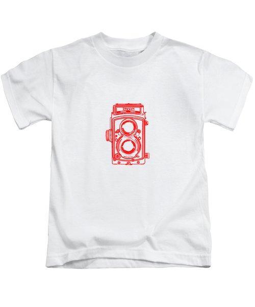 Twin Lens Camera Kids T-Shirt