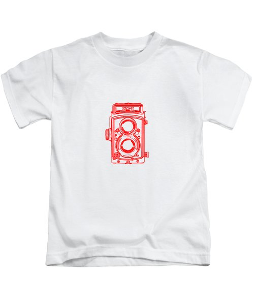Twin Lens Camera Kids T-Shirt