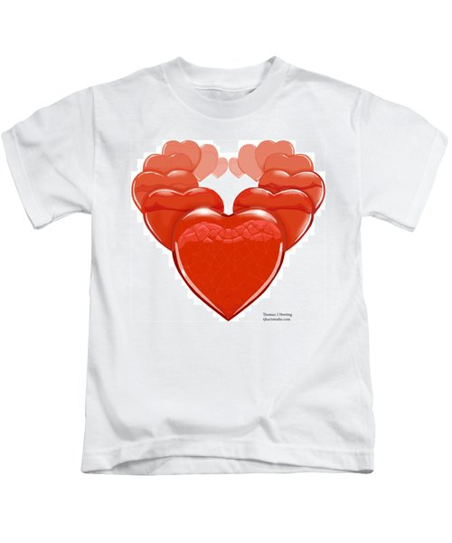 Two Hearts Become One Kids T-Shirt