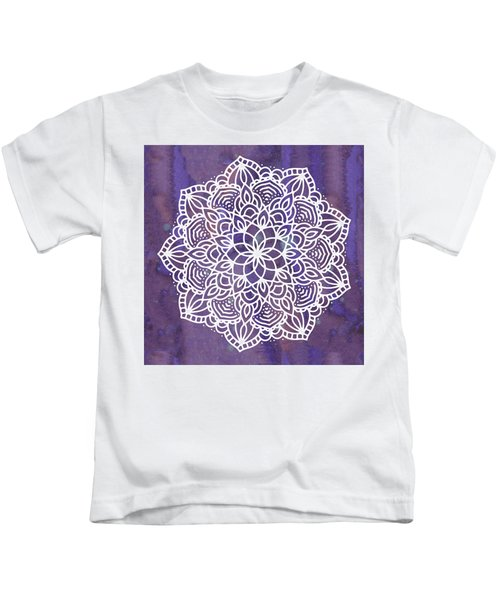 Ultraviolet Mandala Kids T-Shirt