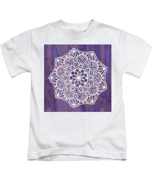 Ultraviolet Mandala Kids T-Shirt
