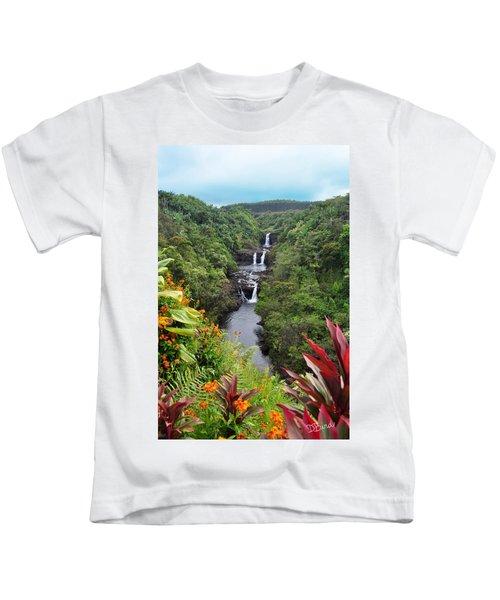 Umauma Falls Hawaii Kids T-Shirt