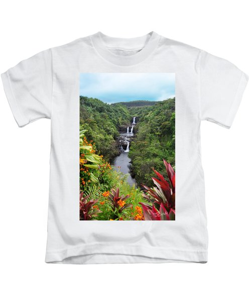 Umauma Falls Hawaii Kids T-Shirt