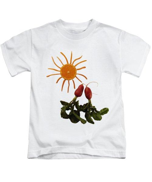 Under The Tangerine Sun - On White Kids T-Shirt