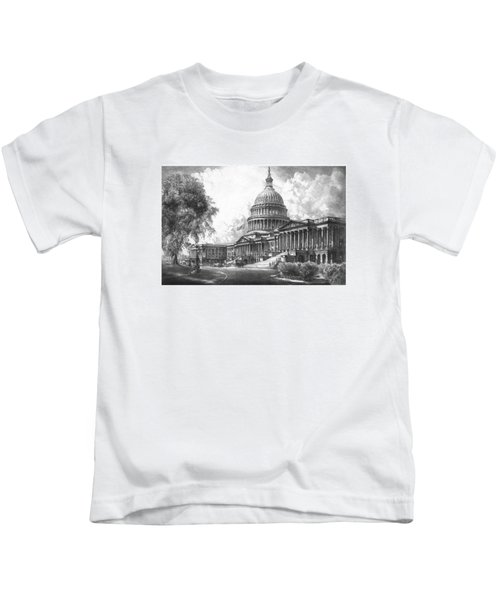 United States Capitol Building Kids T-Shirt by War Is Hell Store