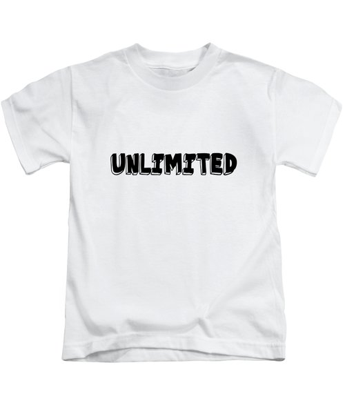 Unlimited - Art Print Poster, One Word Quotes  Kids T-Shirt