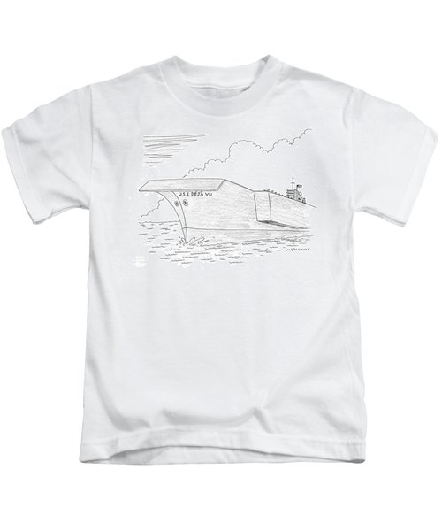U.s.s. Deja Vu Kids T-Shirt by Mick Stevens