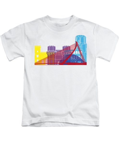 Valencia Skyline Pop Kids T-Shirt