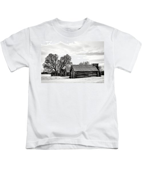 Valley Forge Barracks In Winter  Kids T-Shirt