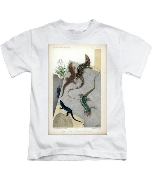 Varieties Of Wall Lizard Kids T-Shirt