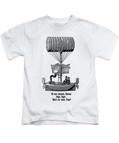 Vector Victor Vintage Airship Kids T-Shirt
