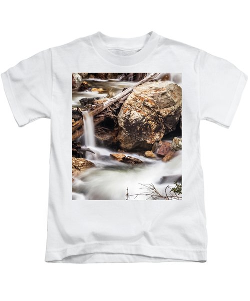 Velvet Falls - Rocky Mountain Stream Kids T-Shirt
