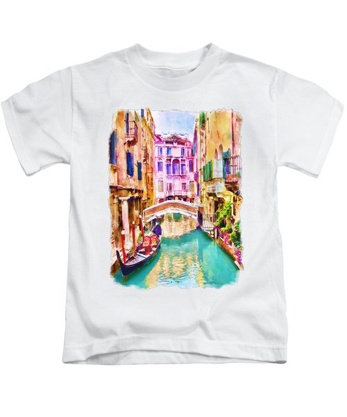 Venice Canal 2 Kids T-Shirt by Marian Voicu
