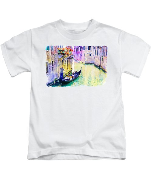Venice Canal Kids T-Shirt by Marian Voicu