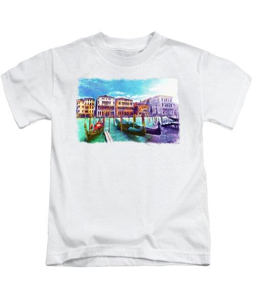 Venice Kids T-Shirt by Marian Voicu