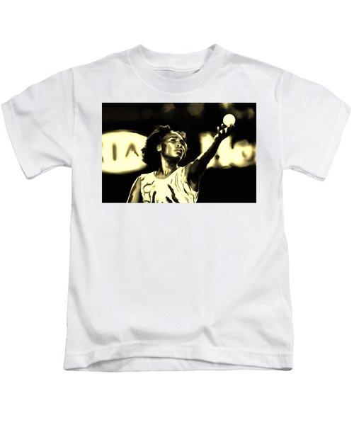 Venus Williams Match Point Kids T-Shirt by Brian Reaves