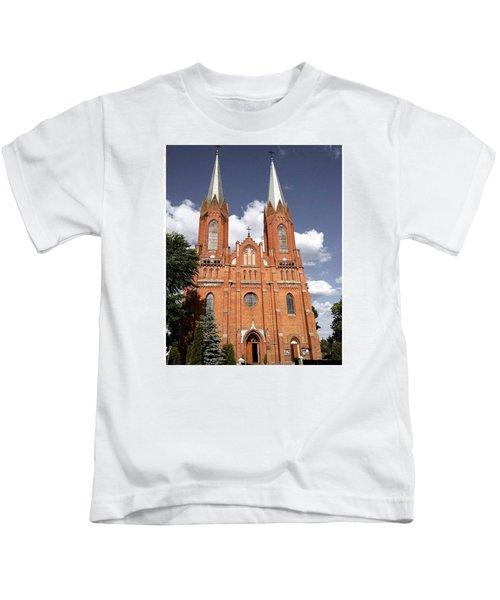 Very Old Church In Odrzywol, Poland Kids T-Shirt