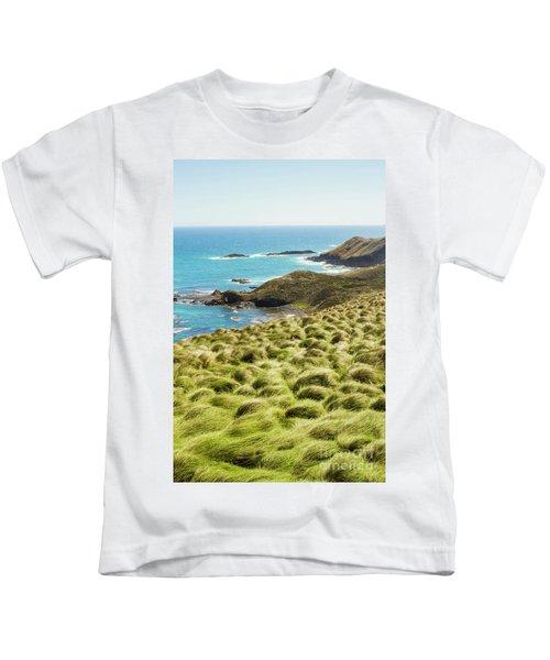 Vibrant Cape Seascape Kids T-Shirt