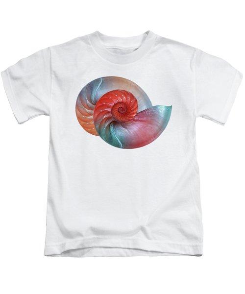 Vibrant Nautilus Pair - Horizontal Kids T-Shirt