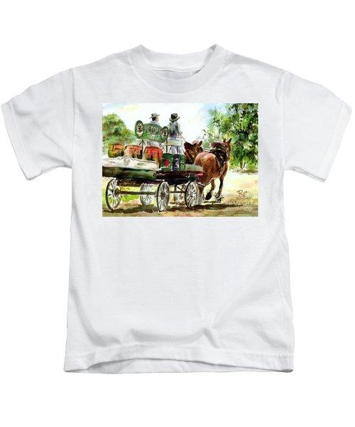 Victoria Bitter, Working Clydesdales. Kids T-Shirt