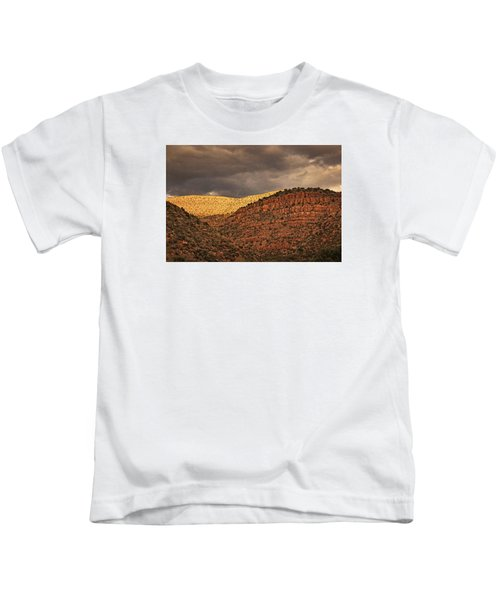 View From A Train Txt Kids T-Shirt