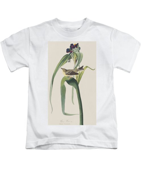 Vigor's Warbler Kids T-Shirt by John James Audubon