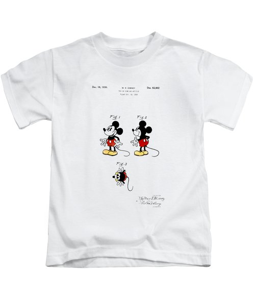 Vintage 1930 Mickey Mouse Patent Kids T-Shirt by Bill Cannon