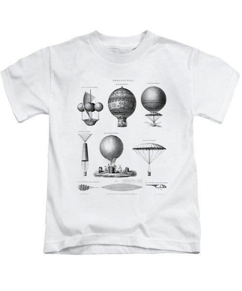 Vintage Aeronautics - Early Balloon Designs Kids T-Shirt