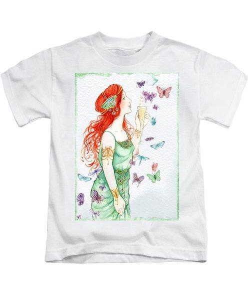 Vintage Art Nouveau Lady Party Time Kids T-Shirt