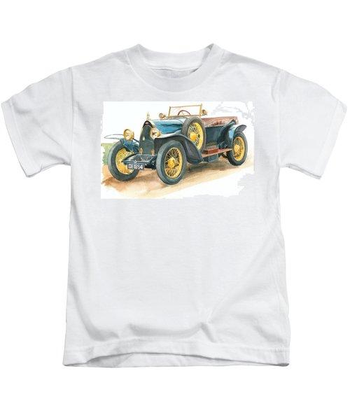 Vintage Blue Bugatti Classic Car Kids T-Shirt