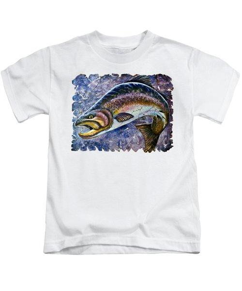Vintage Blue Trout Fresco  Kids T-Shirt by Lena  Owens OLena Art