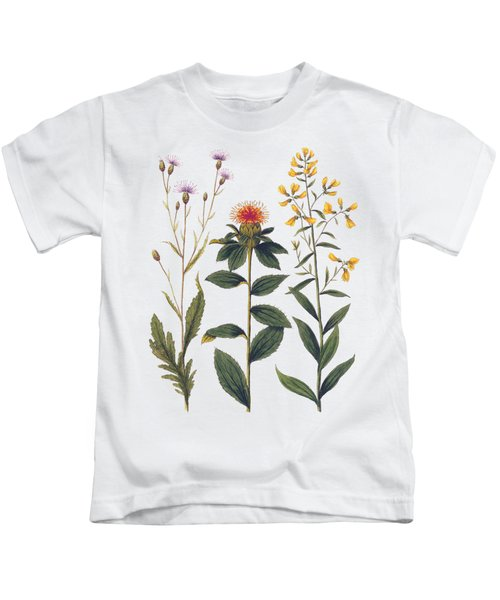 Vintage Botanical Wildflowers Kids T-Shirt