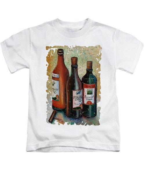 Vintage Georgian Wine Fresco Kids T-Shirt by Lena  Owens OLena Art