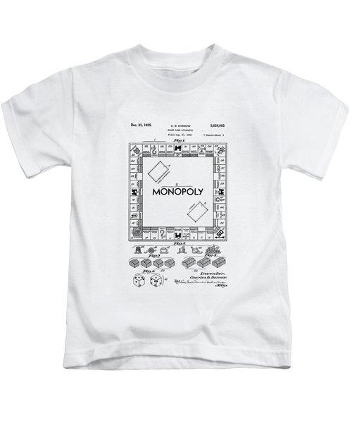Vintage Monopoly Patent 1935 Kids T-Shirt