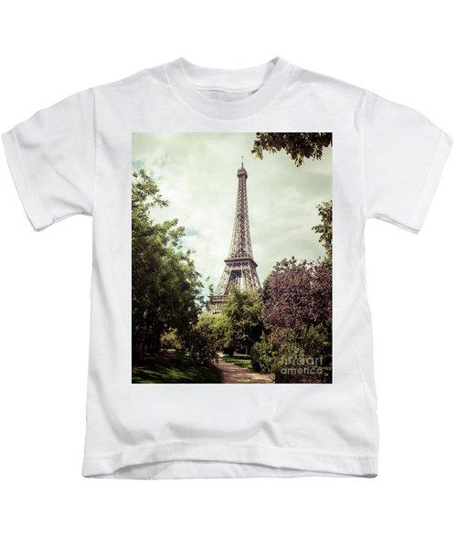 Vintage Paris Kids T-Shirt
