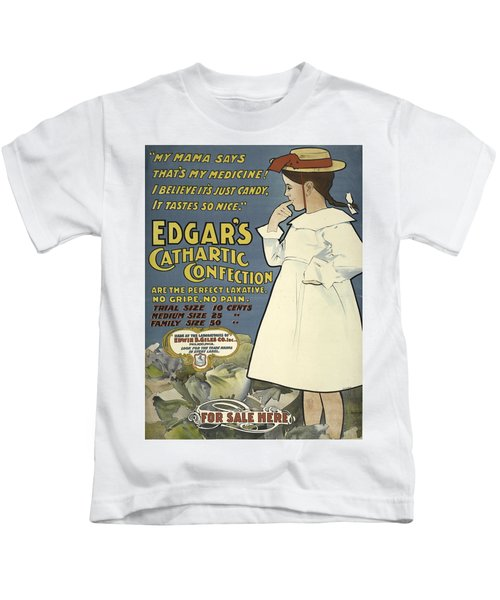 Vintage Poster Edgar's Cathartic Confection Kids T-Shirt