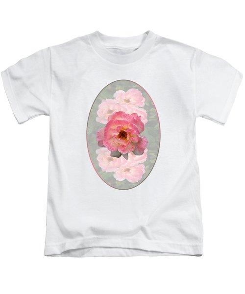 Vintage Rose Vertical Kids T-Shirt