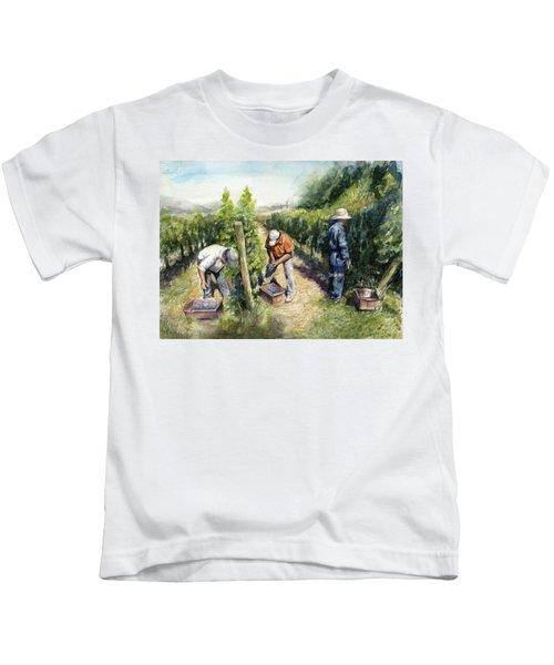 Vineyard Watercolor Kids T-Shirt