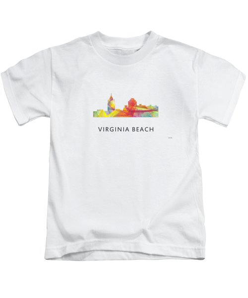 Virginia Beach  Virginia Skyline Kids T-Shirt by Marlene Watson