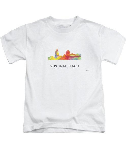 Virginia Beach  Virginia Skyline Kids T-Shirt